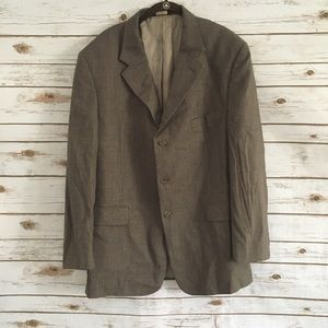 Brooks Brothers 346 Brown Wool Blazer Jacket 46R